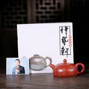 true yixing zisha tea pot dahongpao clay handmade carved pot of tea marked pots