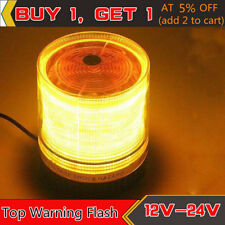 Car Truck BUS Roof Top Warning Flash Beacon Strobe Emergency  Alarm Light Amber
