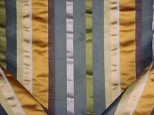 8Y Brunschwig & Files BR-88207 Lineation Silk Stripe Gold Grey Upholstery Fabric