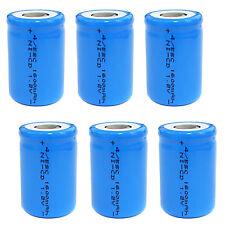 6 pcs 4/5 Sub C SC 1600mAh 1.2V Ni-Cd rechargeable Battery Cell Flat Top Blue