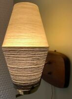 Vintage 50s 60s Wall Hanging Beehive Sconce Mid Century Modern Atomic Light Lamp