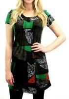 Purplish Womens Ladies Cowl Neck Green Winter Warm Tunic Top Midi Dress Casual