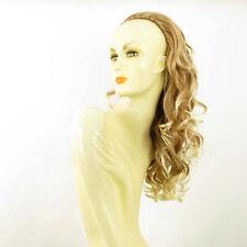 Demi-tête, demi-perruque 58cm blond clair cuivré blond clair ref 016 en 27t613