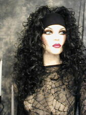 SALE~GORGEOUS JET RAVEN BLACK HEADBAND CURLY WIG WIGS