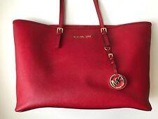 Michael Kors Jet Set Travel Large East West Tote Red Handbag!!!