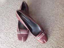 Nine West Leather Vintage Block Heel Shoes Size UK 6