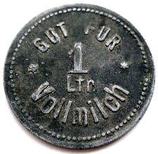 GERMANY, NEUFRA GUT FUR 1 Ltr. Vollmilch, Milk Token 23.3mm 3g Zinc, Rare. NN5.4