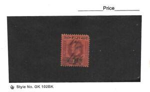 Fiji 1903 Edward VII 1d Dull Purple & Black/Red Single Used