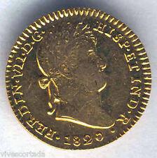 Fernando VII 2 Escudos 1820 Sevilla C.J. Oro @ Muy Bella @