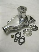 Small Block Chevy POLISHED Aluminum Water Pump Short SBC 283 327 350 High Volume