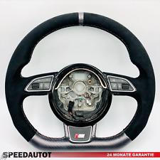 Tuning Abgeflacht Schwarz Alcantara  Lenkrad S-Line AUDi A1 A6 A7 A8 4G0 4H0