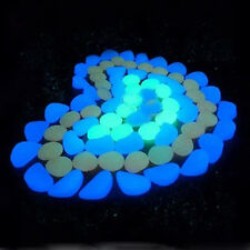 10x Aquarium Fish Tank Glow in The Dark Colorful Fluorescent Stones Pebbles Rock