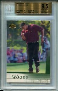 2001 Upper Deck Golf #1 Tiger Woods Rookie Card RC BGS Graded Gem Mint 9.5