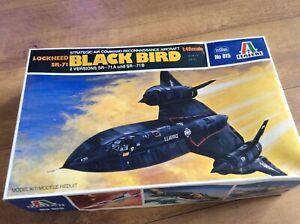 MODEL KIT SR-71 LOCKHEED BLACKBIRD    BY ITALERI   1:48