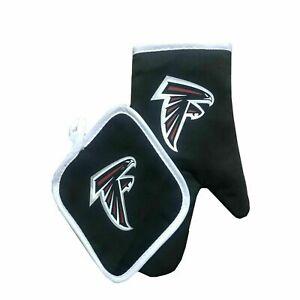 NEW Football Team Atlanta Falcons Oven Mitts & Pot Holder Set BBQ Licensed