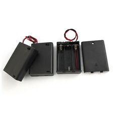 3Pcs Plastic 3 x AA Batteries Battery Holder Case Box w On/Off Switch