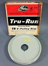 "*NOS* Genuine Gates Tru-Run Steel V-Pulley Rim 6"" OD Groove A (7803-0010 37524)"