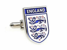 England Silver Blue Cufflinks Casual Formal Football for Suit Shirt Gift