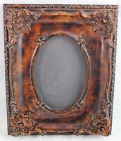 "Picture Frame Simulated Wood 11""x9"", 6-1/2""x4-1/2"" Wall Desk Ornate Decorative"