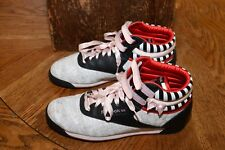 Reebok Classic High Tops Leather Floral Pink Bows 10 Women