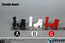1:6  High Heel Shoes Ankle Boots Fits Hot Toys Phicen Action Figure Female Body