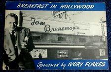 1948 ADVERTISEMENT SPONSORED IVORY FLAKES TOM BRENEMANS BREAKFAST IN HOLLYWOOD