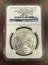 2012 P $1 Star Spangled Banner Early Release NGC MS70  Silver Dollar