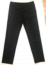 HELMUT LANG SIZE 10 LADIES CROPPED SKINNY PANTS DRESS BLACK WOOL BLEND EUC