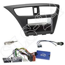 Honda Civic FK2/FK3 ab02/2014 Doppel-DIN Blende+Fach+Clarion Lenkrad Adapter Set
