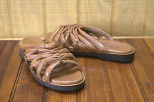 Clarks of England Brown leather slides sandals Women's Size 8.5 M