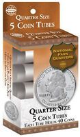 Harris New Quarter Size Coin Tubes Whitman 2 Packs Of 5. Each Hold 40 USA Post