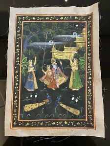 Vintage/Antique Painted Indian Art on Silk