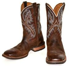 ARIAT QUICKDRAW Brown Leather Square Toe Cowboy Western Boots Men's 8.5 D
