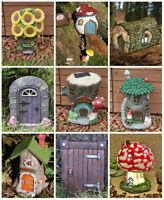 Light Up Solar Powered Fairy House Garden Outdoor Magical Ornament Toadstool UK