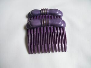 AUTHENTIC ALEXANDRE DE PARIS HAIR COMBS IN PURPLE