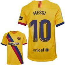 FC Barcelona 2019/20 Junior Away Shirt - MESSI 10 - Size - Age 12-13 - L Boys