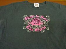 NRA Shoot To Save the Girls Breast Cancer  Womens Large T Shirt  V9
