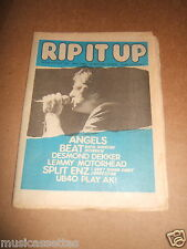 NEW ZEALAND MUSIC MAGAZINE 1981 THE ANGELS THE BEAT UB40 (THE FALL / AC/DC ADS)