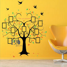 Removable Vinyl Wall Sticker Home Decor Black Branches Photo Frame Tree Decor