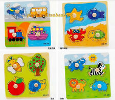 4 Shapes Wooden Adjustable Colorful Puzzle Toy Baby Educational Brick Toy Mgca