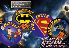 Teacher Reward Stickers 48 30mm School Award Well Done Mixed Praise Behaviour