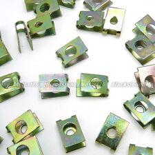 60 Pcs Spring Type U Nut 3mm Screw Size Zinc & Yellow Plated Metal Clip 11mm*8mm