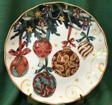 NEW~ S/4 Williams Sonoma TWAS THE NIGHT CHRISTMAS Dinner Plates ORNAMENTS