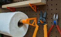 Pegboard Brackets for Mini Shelf or Paper Towel - 1/4 Inch