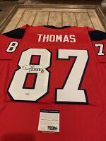 Demaryius Thomas Autographed/Signed Jersey PSA/DNA COA Houston Texans