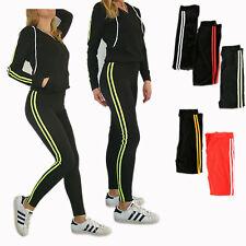 Damen Trainingsanzug 2tlg Hose+Jacke Sportjacke Sportanzug Streifen 201 Hoodie