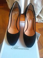 Scarpa camoscio nero Blumarine,n.36 nuova, altezza tacco 9 cm e mezzo