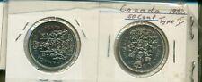 Canada 1982 Type I & II 50 cents AU