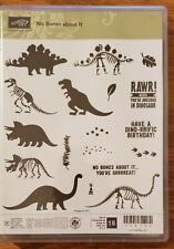 Stampin Up! NO BONES ABOUT IT Dinosaur TRex RAWR Retired