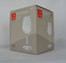 4 NIOB Bormioli Rocco Restaurant White Wine Glass Set 15 oz Italy Glass Stemware
